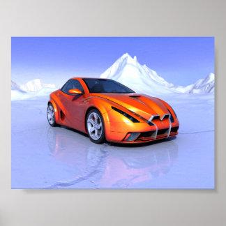 Mini- affisch för kall bil poster