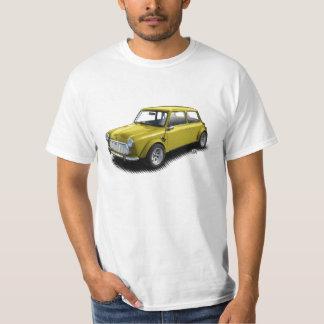Mini- bil för klassikergult 1969 på vitT-tröja Tshirts