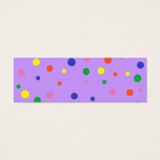 Mini- bokmärkekort med färgrik polka dots litet visitkort