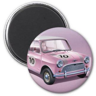 Mini- CooperS1-rosor Magnet Rund 5.7 Cm