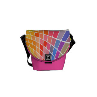 Mini- färgrikt kvadrerar messenger bag