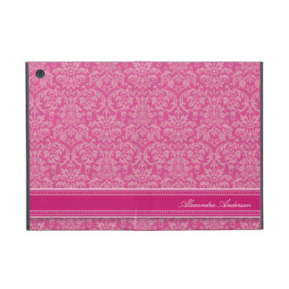 Mini- fodral för elegant damastast iPad (fuchsiaen iPad Mini Fodral