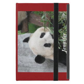 mini- foliofodral för iPad, Panda som är röd iPad Mini Skal