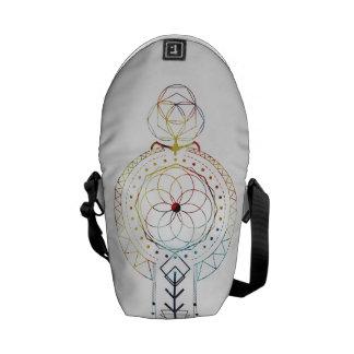 Mini- inspirerad Boho sakral geometri hänger lös Kurir Väska