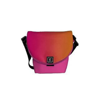 """Mini- messenger bag: """"Rosa och orange Ombre"""", Kurir Väska"""