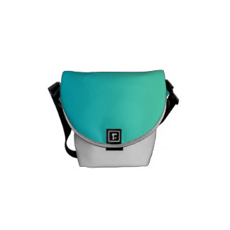 "Mini- messenger bag: ""Turkos Ombre"", Kurir Väska"