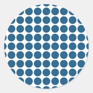 Mini- polka dotsklistermärkear runt klistermärke