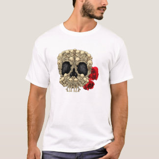 Mini- skelettsockerskalle t shirt