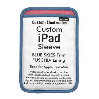Mini- sleeve för beställnings- iPad - blå himmel &