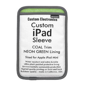 Mini- sleeve för beställnings- iPad - kol- &