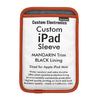 Mini- sleeve för beställnings- iPad - Mandarin &