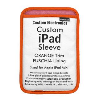 Mini- sleeve för beställnings- iPad - orange &