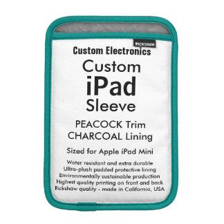 Mini- sleeve för beställnings- iPad - påfågel &