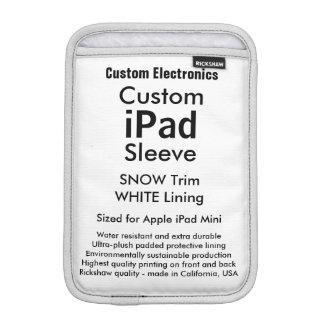 Mini- sleeve för beställnings- iPad - snö & vit