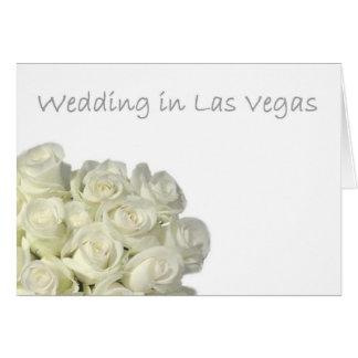 """Mini- vit ros""""gifta sig i Las Vegas"""" kort"""