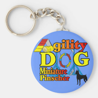 Miniature_Pinscher_Agility gåvor Rund Nyckelring