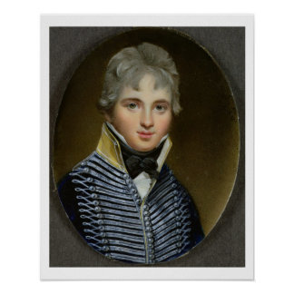 Miniatyr av William Howe de Lancey (d.1815), maj Poster