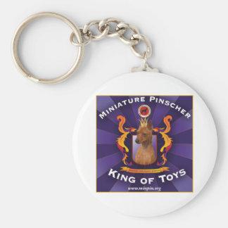MiniatyrPinscher: Kung av leksaker Rund Nyckelring