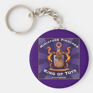 MiniatyrPinscher, kung av leksaker Rund Nyckelring
