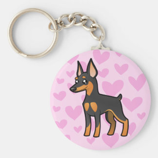 MiniatyrPinscher/Manchester Terrierkärlek Rund Nyckelring