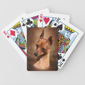 MiniatyrPinscherBicycle® poker som leker kort Spelkort
