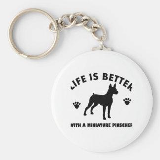 MiniatyrPinscherhund design Rund Nyckelring