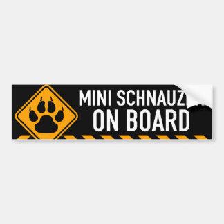 MiniatyrSchnauzer ombord Bildekal
