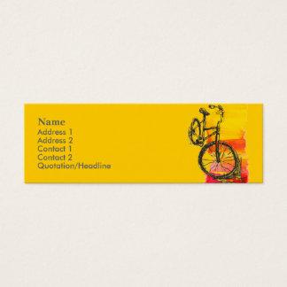 Minicard cykelvisitkort litet visitkort