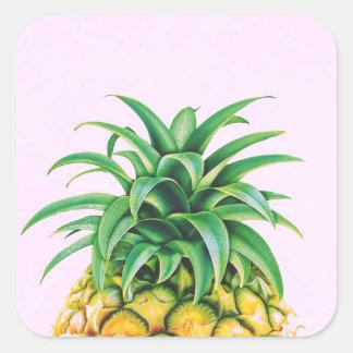 Minimalist ananas fyrkantigt klistermärke