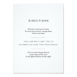 Minimalist bröllopmellanlägg 11,4 x 15,9 cm inbjudningskort