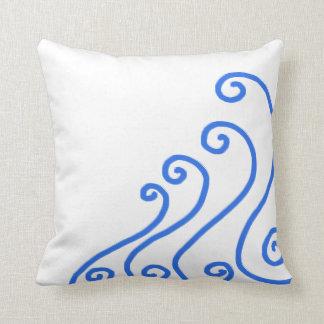 Minimalist design för nautiskt hav för kudde