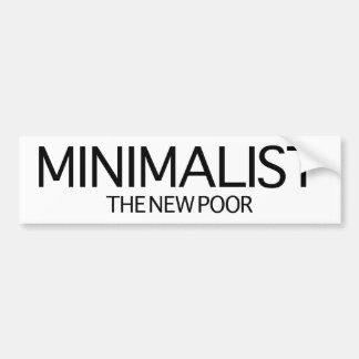Minimalist (det nya fattigt) bildekal