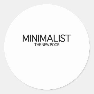 Minimalist (det nya fattigt) runt klistermärke