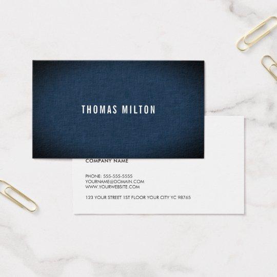Minimalist elegant strukturblåttkonsulent visitkort