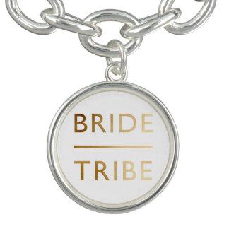 minimalist elegant text för guld för brudstamfaux berlockarmband