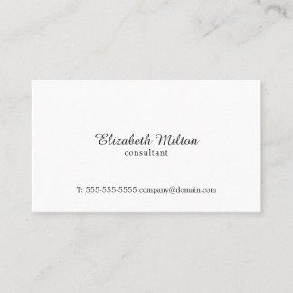 Minimalist Simple Elegant White Consultant