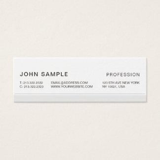 Minimalist enkla moderna yrkesmässiga eleganta grå litet visitkort