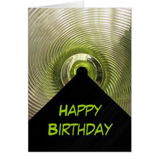 Minimalist födelsedag hälsningskort