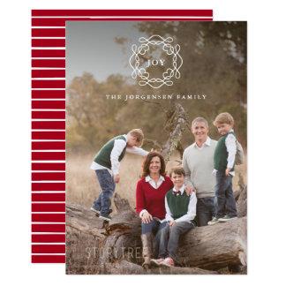 Minimalist för glädjejul för kran | foto 12,7 x 17,8 cm inbjudningskort