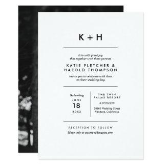 Minimalist fotobröllop 12,7 x 17,8 cm inbjudningskort