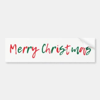 Minimalist god jul görar grön rött skrivar bildekal