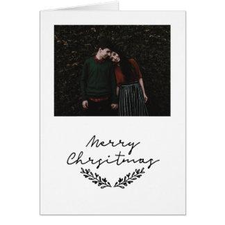 """Minimalist """"god jul #holidayz för fotokort hälsningskort"""