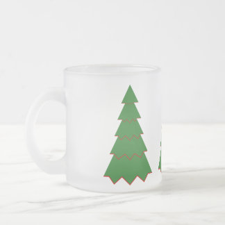 Minimalist julgran frostad glasmugg