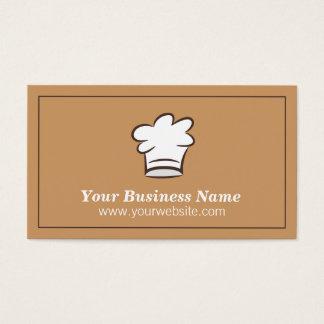 Minimalist kockhatt, matcateringvisitkort visitkort