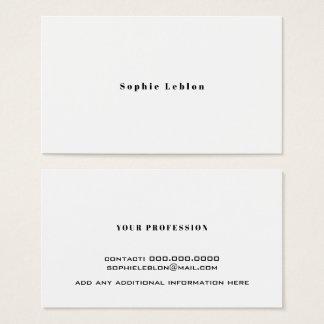 minimalist kontaktkort med namn för modern visitkort