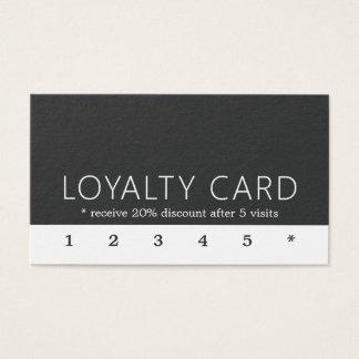 Minimalist kort för lojalitet för elegantsvartvit