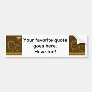 Minimalist lejont - brun bakgrund bildekal