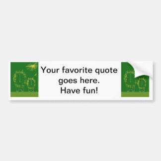 Minimalist lejont - grönt och gult bildekal
