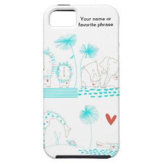 Minimalist lejont, sköldpadda, krokodil och giraff iPhone 5 Case-Mate fodral