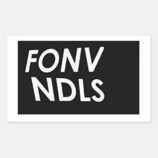 """Minimalist"""" logotyp för FONVNDLS """" Rektangulärt Klistermärke"""